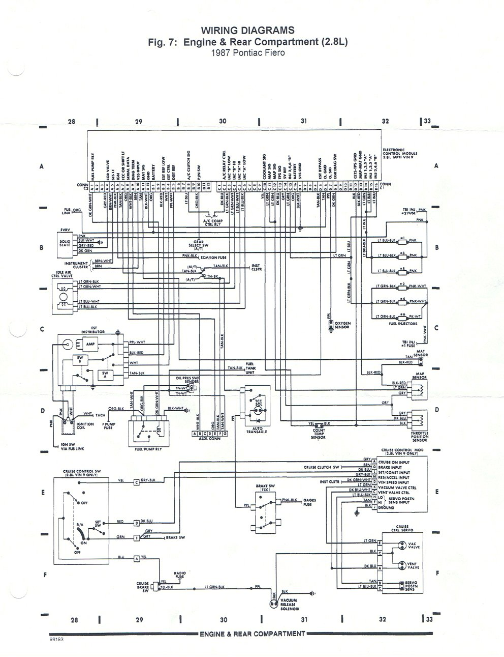 87FieroEng_wire_1 where can i find a diagram of the wiring harness? pennock's 3800 supercharged fiero wiring diagram at bakdesigns.co