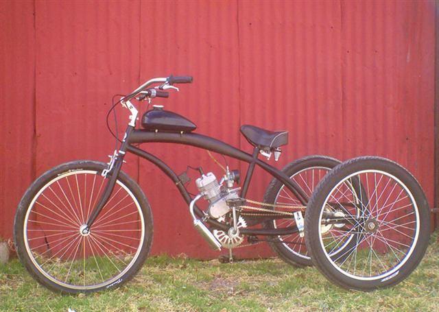 how to build a 2 person bike with small motor