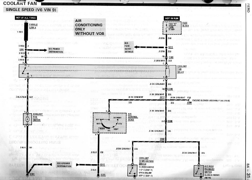 radiator fan wiring diagram for 88 2.8? - Pennock's Fiero ForumPennock's Fiero Forum