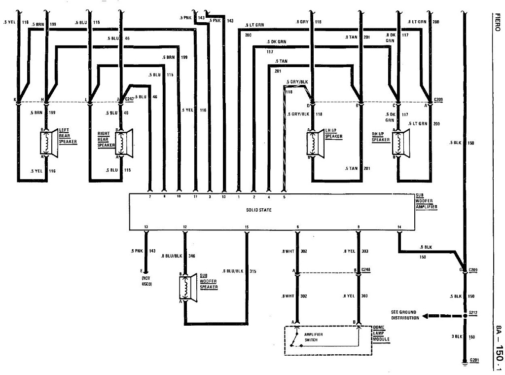 86 Fiero Radio Wiring Diagram