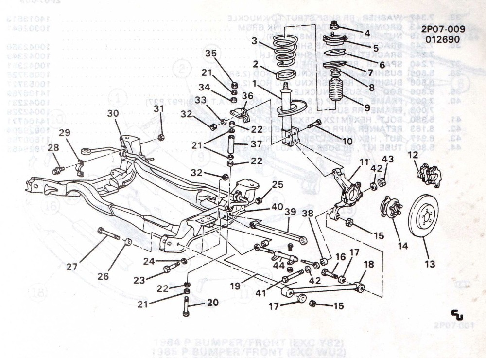 Fiero Parts Diagram