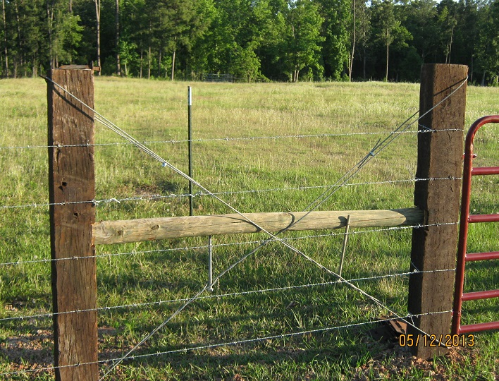 Barbed wire fence corner bracing for pictures to pin on