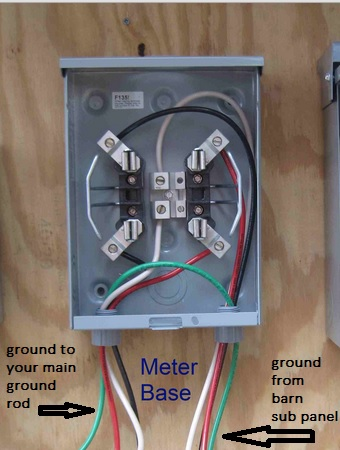 200 amp meter box wiring diagram another electrical question- where does the green ground ... house meter box wiring #7